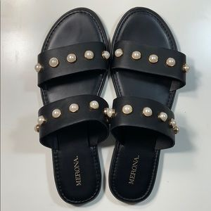 Merona Margo Pearl Slide Sandals 8.5